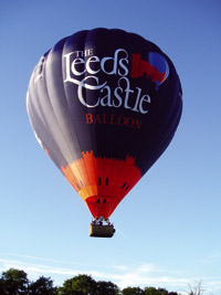 The Leeds Castle Balloon over Leeds Castle